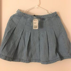 New Classic Simple Preppy Blue Jean Skirt